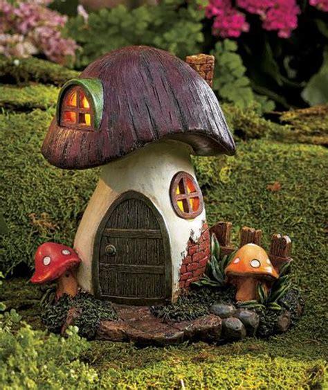 solar lighted garden gnome home houses