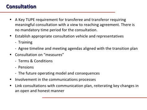 Tupe Process Plan Template by A Transition Methodology For Business Transfers And