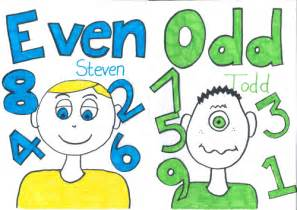 Odd Todd And Even Steven Poster By Dave1102  Teaching Resources Tes