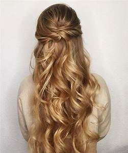 32 Pretty Half up half down hairstyles - partial updo ...