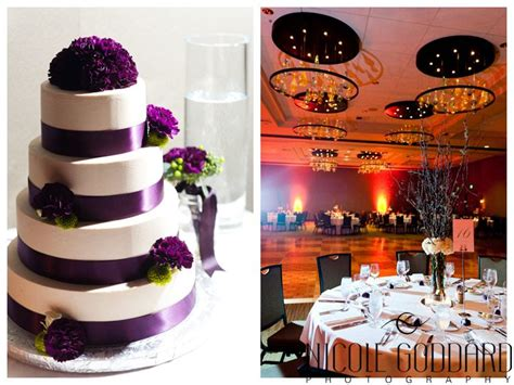 Lime Green & Purple Plum. Winter Wedding At Bellevue