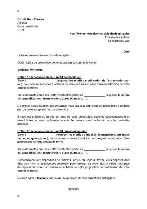 Modification Contrat De Travail Acceptation Tacite by Lettre Offre Commerciale Gratuite Logiciel Lettre
