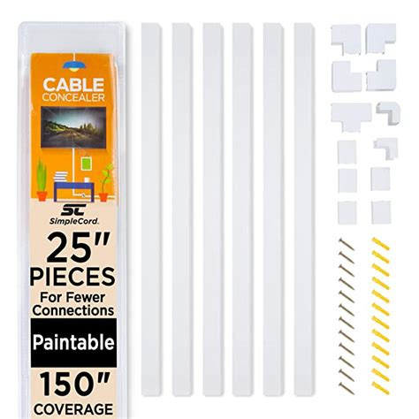 cable concealer  wall cord cover raceway kit cable