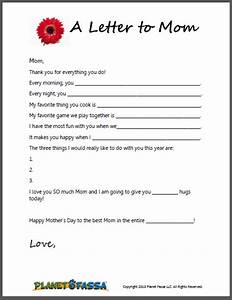 a letter to mom cute printable template for kids to With letter to mom to be