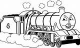 Coloring Pages Engine James Steam Train Thomas Sheet Popular sketch template