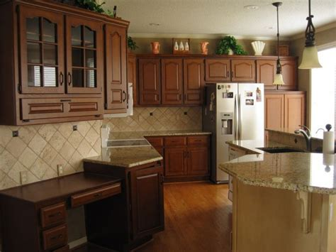 restaining oak cabinets   Future House   Pinterest