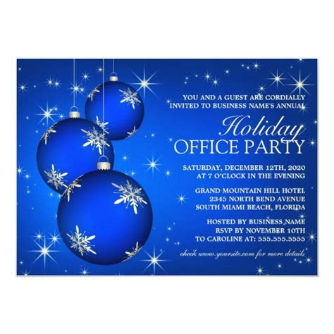 Corporate Holiday Party Invitation Template Zazzle com