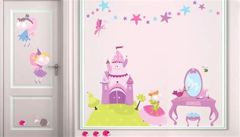 chambre princesse fille stickers deco chambre fille princesse