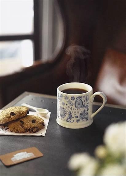 Coffee Tea Cafe Gifs Cofee Drinking Cookies