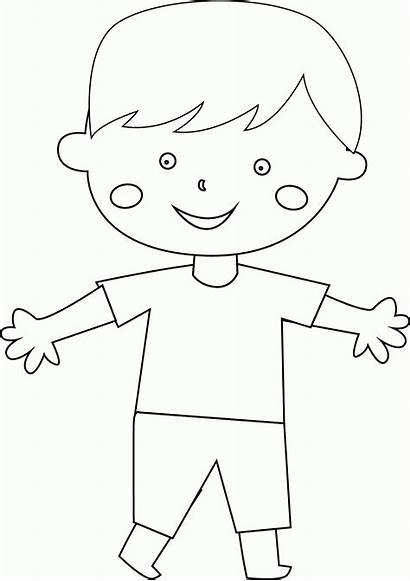 Coloring Child Boy Popular Coloringhome
