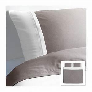Ikea Taie D Oreiller : f rglav housse de couette et taie s gris blanc ikea maison lit ikea housse de ~ Melissatoandfro.com Idées de Décoration