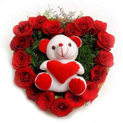 roses  soft toy gift roses  soft toy heart shape