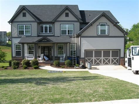 gray trim light gray siding home exterior paint colors grey and window