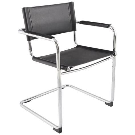 chaise de bureau en cuir chaise de bureau design tahiti noir