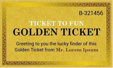 golden ticket templates  ms word formal word templates