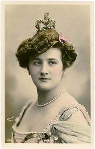 Vintage, Lady, With, Crown, Photo