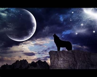 Wolf Moon Howling Wallpapersafari