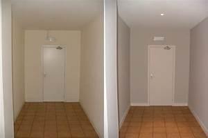 peinture pour couloir avantapres with peinture pour With couleur de peinture pour une entree 3 peindre son couloir en couleur lastuce deco parfaite