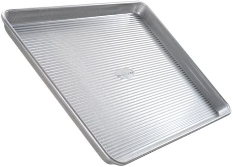 baking sheets quarter oven pan steel which bakeware sheet pans usa cookie cake aluminized kitchen
