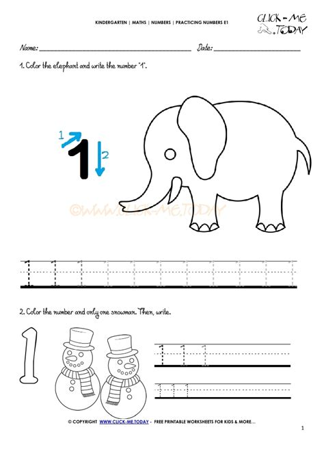 tracing numbers worksheets number 1