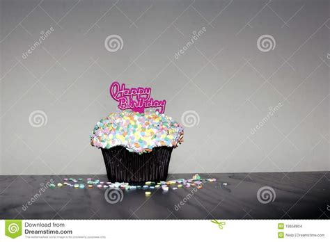 happy birthday muffin stock images image