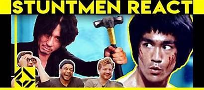 Stuntmen React Scenes Fight Bad