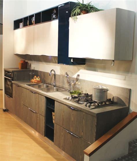 Cucina Lineare 3 Metri Arredo3 Modello Wood  Cucine A