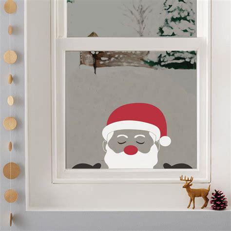 peeping santa window sticker by nutmeg