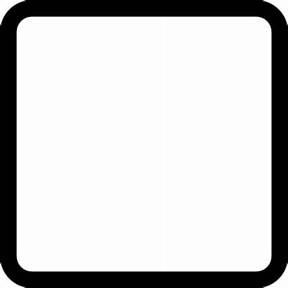 Square Shape Rounded Empty Icon Button Outlined