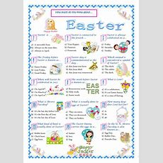 Easterquiz Worksheet  Free Esl Printable Worksheets Made By Teachers