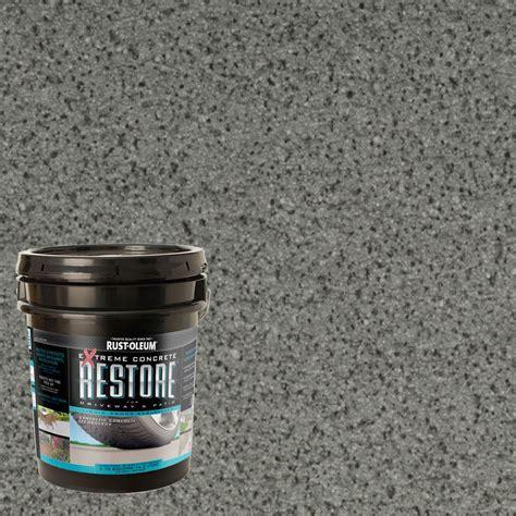 rust oleum decorative concrete paint rust oleum epoxyshield 1 gal battleship gray concrete