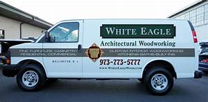 custom van lettering and graphics for woodworking With custom van lettering