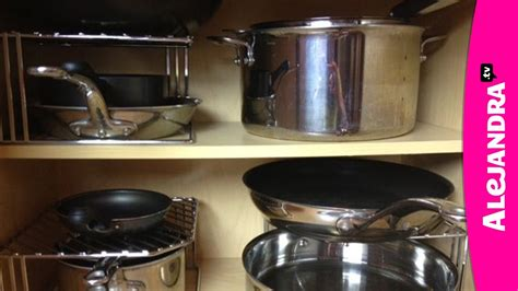 pots and pans cabinet kitchen cabinets organizer ideas