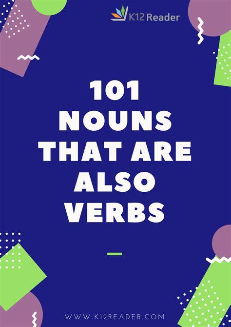 nouns    verbs