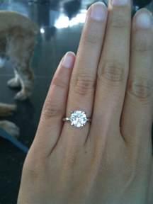 2 carat engagement rings solitaire rings 2 carat