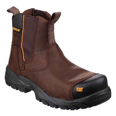 caterpillar safety boots coklat caterpillar propane brown leather s3 mens steel toe safety