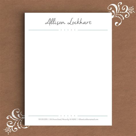 Company Stationery Template Pages by Elegant Letterhead Template Free Printable Letterhead