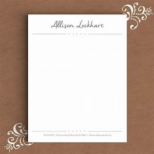 personal letterhead template 18 free psd eps ai With custom letter stationery