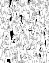 Colouring Hands Break Take Coloring sketch template