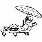 Sunbathing Under Umbrella Coloring Water Samples Sheet Freecoloringsheets Index sketch template