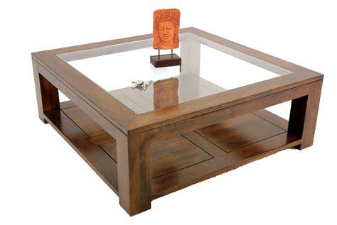 armoire de chambre blanche table basse carrée bois massif et verre l110 cm