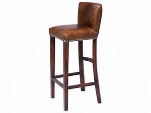 Tabouret De Bar En Cuir : tabouret de bar bois et cuir ~ Dailycaller-alerts.com Idées de Décoration