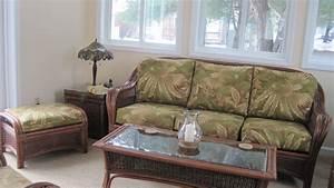 Indoor wicker sofa and loveseat sofa menzilperdenet for Rattan sectional sleeper sofa