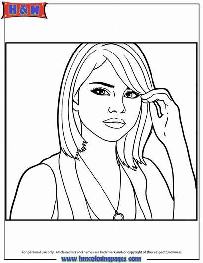 Coloring Selena Gomez Pages Portrait Quintanilla Drawing