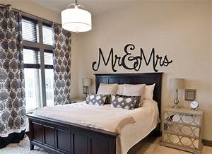 Wall decor for master bedroom : Bedroom wall decal mr mrs decals by amanda s