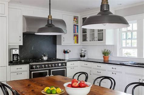 Black Kitchen Cabinets with Soapstone Countertops and