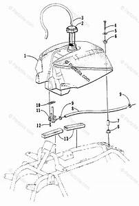 Arctic Cat Atv 1999 Oem Parts Diagram For Gas Tank Assembly