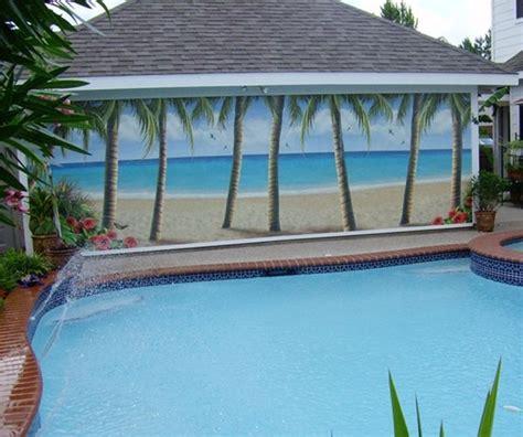 outdoor murals outdoor murals beach style pool dallas by murals your way