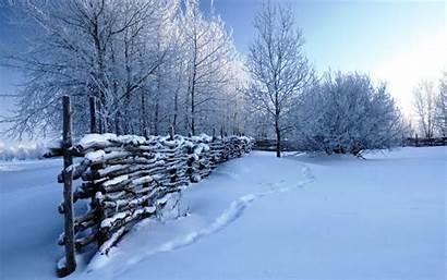 Winter Snow Scenes Wallpapers Scene Desktop Nature