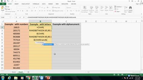 how to create a unique code in excel how to generate